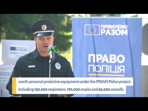 EU and UNOPS  support to the National Police of Ukraine during COVID-19 pandemic