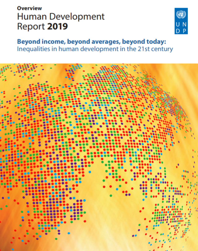 Human Development Report cover
